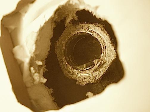 broken threaded pipe